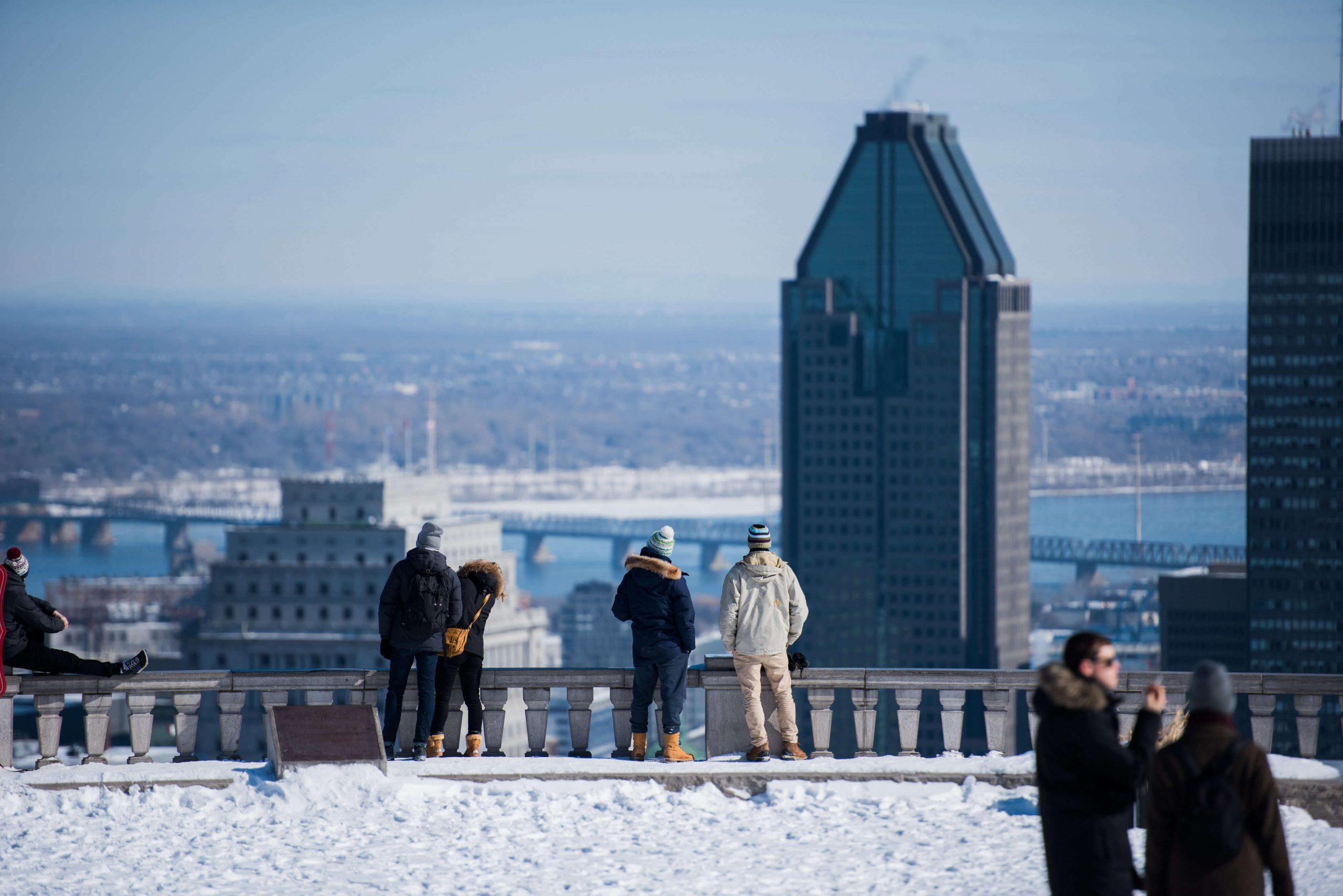 Belvédère Kondiaronk sur le mont Royal à Montréal
