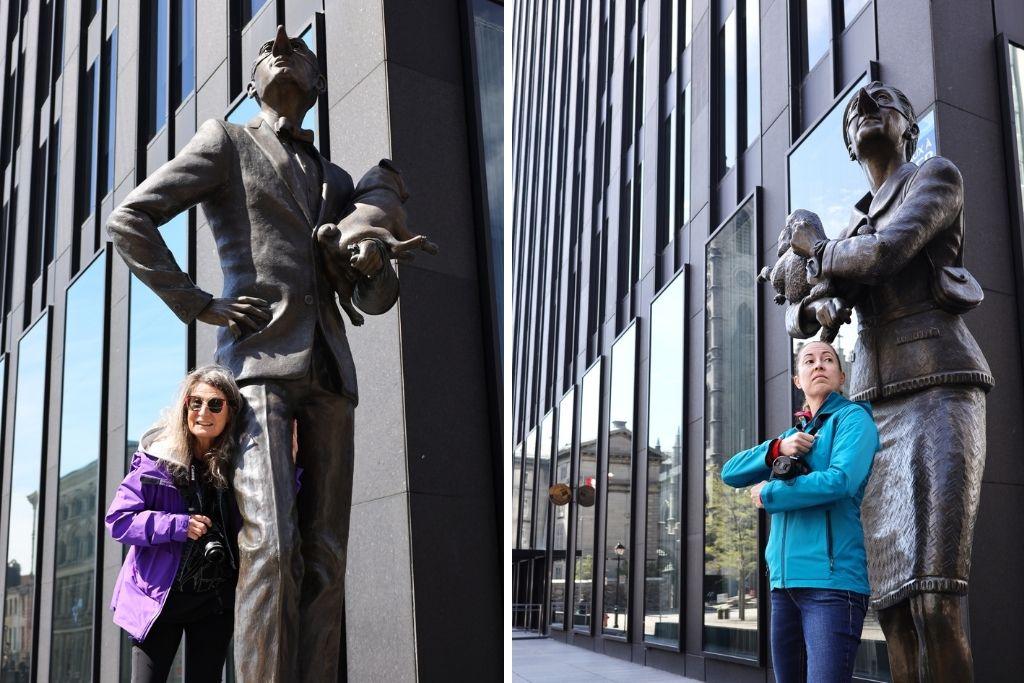 Lise Lepage et Sarah Montpetit guides Guidatour Montréal
