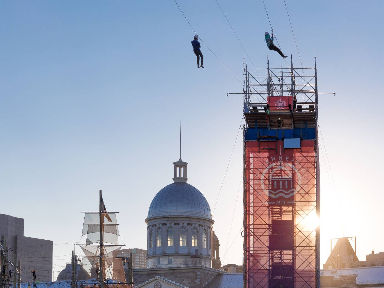 Montréal Zipline blog Passeports Attraits Guidatour